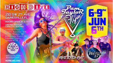Pam Taylor & the Flyin' Vs Midnight Blue Band One Eyed Cat: Main Image