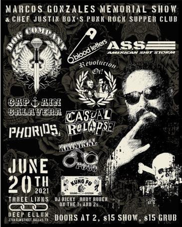 Marcos Gonzalez Memorial Show and Punk Rock Supper Club: Main Image
