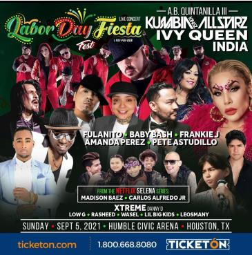 AB QUINTANILLA, IVY QUEEN, INDIA, FRANKIE J, BABY BASH: