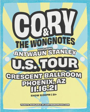 Cory and the Wongnotes featuring  Antwaun Stanley: Main Image