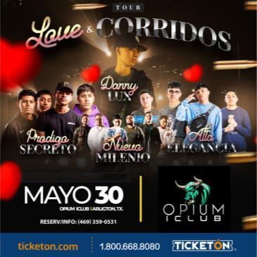 LOVE Y CORRIDOS TOUR 2021 EN ARLINGTON TX