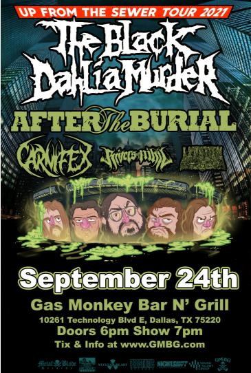 The Black Dahlia Murder: Up From The Sewer Tour: Main Image