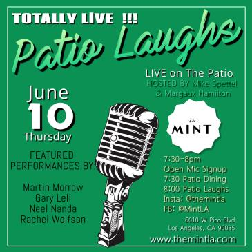 Patio Laughs - Live Comedy with Open Mic: Main Image