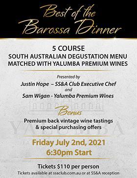 Best of the Barossa Dinner: Main Image