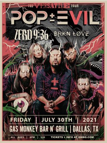 Pop Evil: Versatile Tour: Main Image