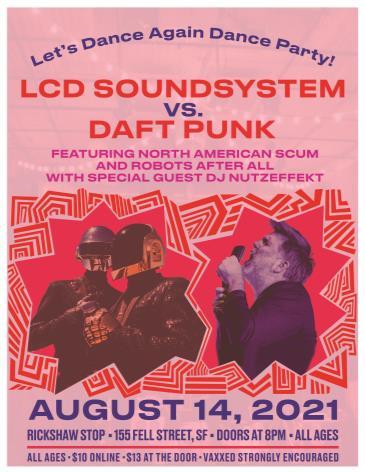LCD SOUNDSYSTEM VS DAFT PUNK: Let's Dance Again Dance Party: Main Image