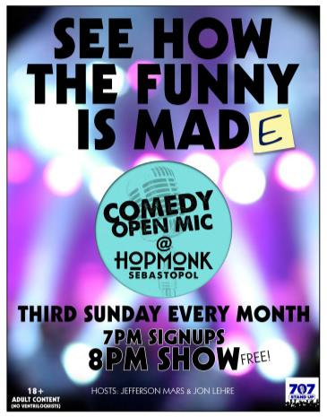 COMEDY OPEN MIC (EVERY 3RD SUNDAY):