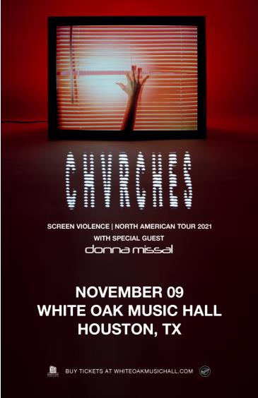 CHVRCHES with special guest Donna Missal: Main Image