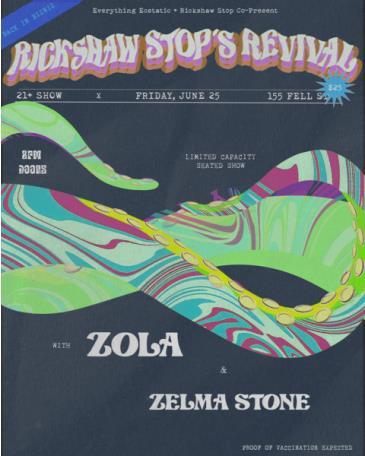 RICKSHAW STOP'S REVIVAL with ZOLA and Zelma Stone: Main Image