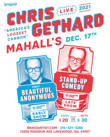 """Chris Gethard """"AMERICA'S LOOSEST CANNON"""" at Mahall's: Main Image"""