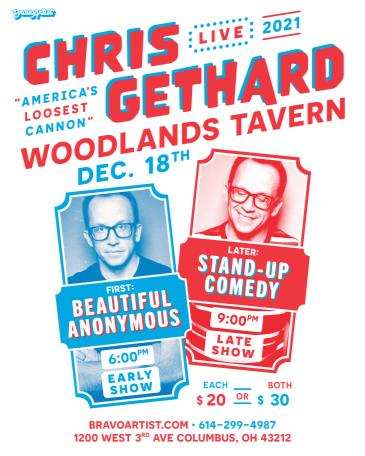 """Chris Gethard """"AMERICA'S LOOSEST CANNON"""" at Woodlands Tavern: Main Image"""