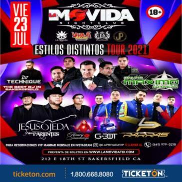 ESTILOS DISNTINTOS TOUR 2021