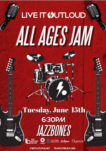 Ted Brown Music Presents: Live It Outloud (All Ages Jam): Main Image