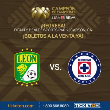 CRUZ AZUL VS LEON CAMPEON DE CAMPEONES: Main Image