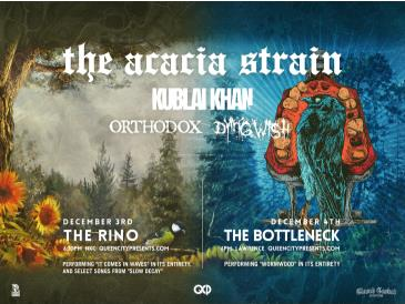"""The Acacia Strain perf. """"Wormwood"""" + @ The Bottleneck:"""