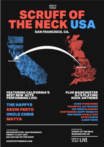 SCRUFF OF THE NECK USA SHOWCASE with THE HAPPYS and more: Main Image