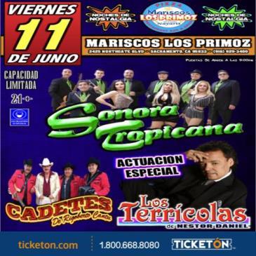 SONORA TROPICANA, LOS TERRICOLAS & LOS CADETES DE LINARES: Main Image