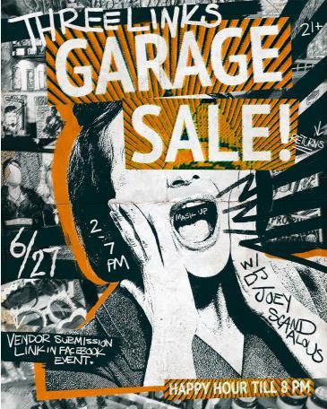Three Links Garage Sale JUNE w/ DJ Joey Scandalous: Main Image
