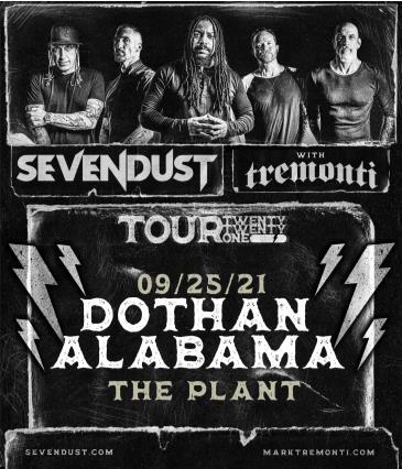 Sevendust with Tremonti - Tour Twenty Twenty One: Main Image