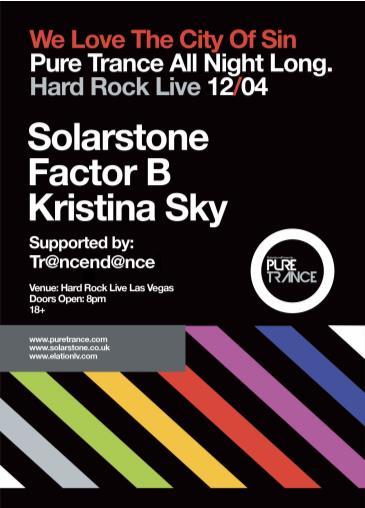 Pure Trance Las Vegas ft. Solarstone, Factor B, Kristina Sky: