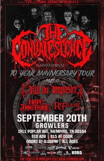The Convalescence, Kill The Imposter, Hate Doctrine & ReFram: Main Image