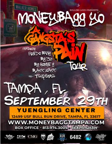 Postponed: Moneybagg Yo - Tampa, FL - A Gangsta's Pain Tour: