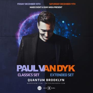 Paul Van Dyk - Quantum Brooklyn (Friday 12/10/2021):
