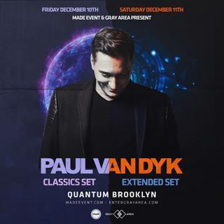 Paul Van Dyk - Quantum Brooklyn (Saturday 12/11/2021):