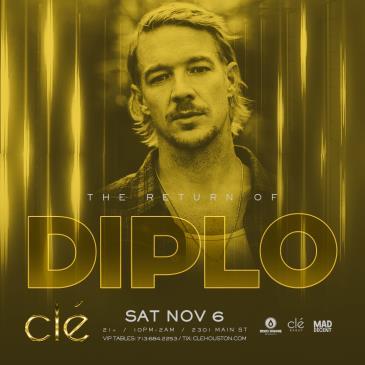 Diplo / Saturday November 6th / Clé: