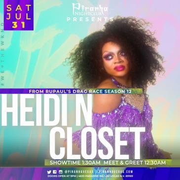 Piranha Presents Heidi N Closet from RuPauls Drag Race: Main Image
