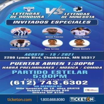 LEYENDAS DE HONDURAS VS LEYENDAS DE MN