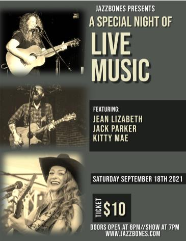 Jean Lizabeth with special guests Jack Parker & Kitty Mae: