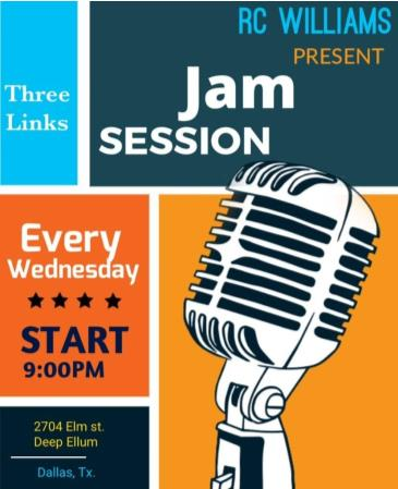 Jam Session (hosted by RC Williams):
