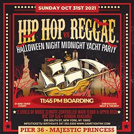 NYC Halloween Midnight Yacht Hip Hop vs Reggae® Pier 36 Majestic Princess | GametightNY.com