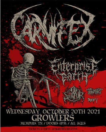 Carnifex w/ Enterprise Earth, Ov Sulfur and more:
