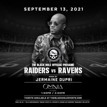The Black Hole Pre-Game Party: Raiders vs. Ravens:
