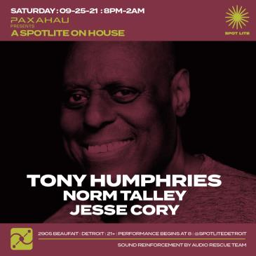 Paxahau presents Tony Humphries: