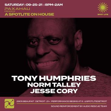 Paxahau presents Tony Humphries-img