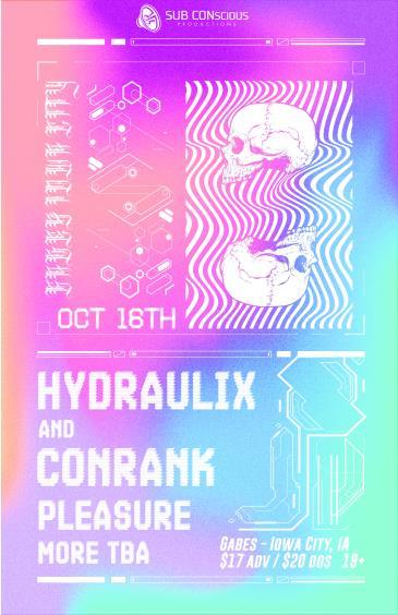 Conrank & Hydraulix @ Gabes, Iowa City: