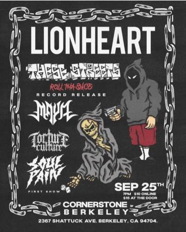 Lionheart with These Streets, Maya, Torture Culture and More: