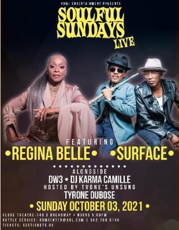 Soulful Sundays Live w/ Regina Belle / Surface / DW3:
