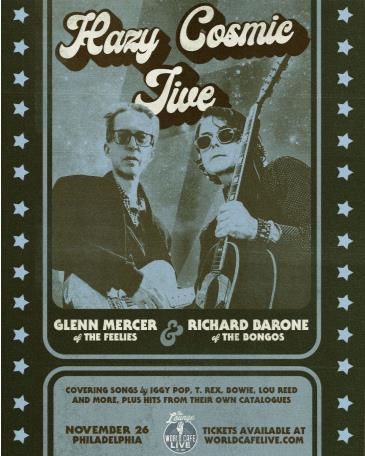 "Richard Barone & Glenn Mercer ""Hazy Cosmic Jive"":"