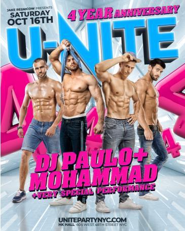 U-NITE: 4-YEAR ANNIVERSARY - DJ PAULO + MOHAMMAD: