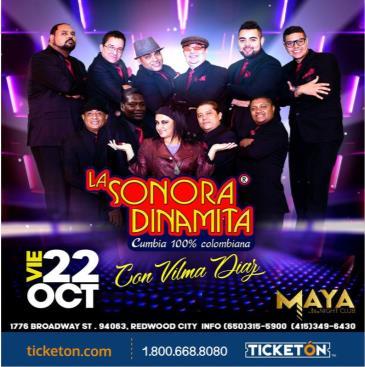 LA SONORA DINAMITA EN REDWOOD CITY: