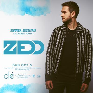 Zedd / Sunday October 3rd / Clé Summer Sessions: