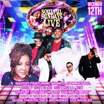 Soulful Sundays Live w/ Raydio/Jones Girls ft Shirley Jones-img