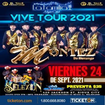 MONTEZ DE DURANGO VIVE TOUR 2021: