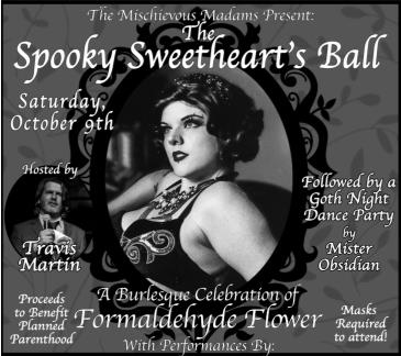 The Spooky Sweetheart's Ball Benefitting Planned Parenthood: