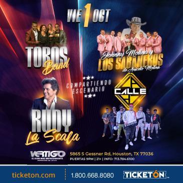 RUDY LA SCALA, LOS TOROS BAND, LOS SABANEROS,  Y LA CALLE: