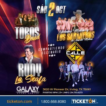 RUDY LA SCALA, TOROS BAND, LOS SABANEROS Y LA CALLE: